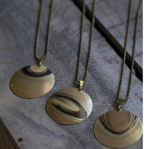 Necklace - handmade unique Scotch Brass Necklaces