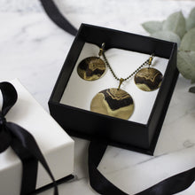 Sets - Scotch Brass Necklace with Round Earrings