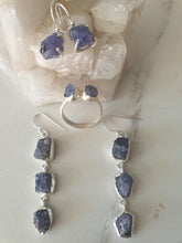 Earrings - Tanzanite in sterling silver