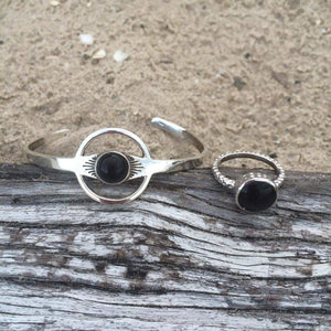 Ring - Flo Onyx Sterling Silver