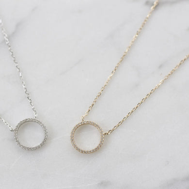 Necklace - Small Circle of Positivity silver/rose gold