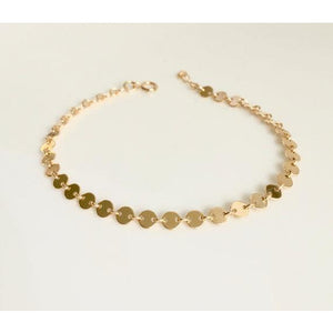 Bracelet - Multi Disc silver/rose gold
