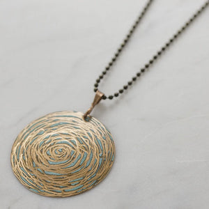 Copper Art Design Necklace