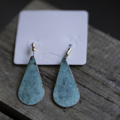 Earrings- Copper Drop Smooth