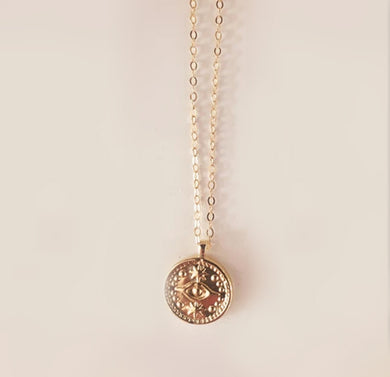 Necklace - Corfu Evil Eye in Gold