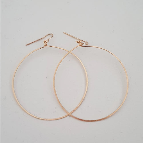 Earrings - Large Gold Hoops