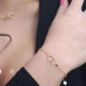 Bracelet - Love entwined in Rose Gold or Gold