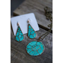 Earrings -  Unique handmade copper pattern Drop