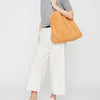 Cleve Large Calvert Leather Shoulder Bag in Tan