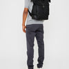Fin Waxed Cotton Backpack in Black and Olive-TALL RUCKSACK-Ally Capellino-Ally Capellino