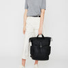 Fin Waxed Cotton Backpack in Black-TALL RUCKSACK-Ally Capellino-Ally Capellino