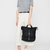 Frances Waxed Cotton Rucksack in Black-Backpacks-Ally Capellino-Ally Capellino