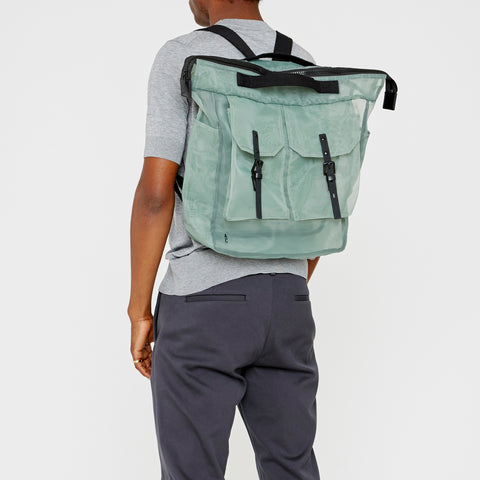 Frank Large Sheer Rucksack Green