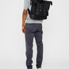 Frank Large Waxed Cotton Rucksack in Black and Olive-RUCKSACK-Ally Capellino-Ally Capellino-Green-Olive-Waxed_Cotton