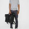 Frank Large Waxed Cotton Rucksack in Brick