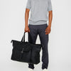 Freddie Waxed Cotton Holdall in Black and Olive-HOLDALL-Ally Capellino-Ally Capellino