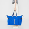 Freddie Waxed Cotton Holdall in Cobalt-TRAVEL BAG-Ally Capellino-Ally Capellino