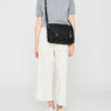 Jeremy Small Waxed Cotton Satchel in Black-SMALL CROSS BODY-Ally Capellino-Ally Capellino