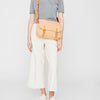 Jeremy Small Waxed Cotton Satchel in Plaster
