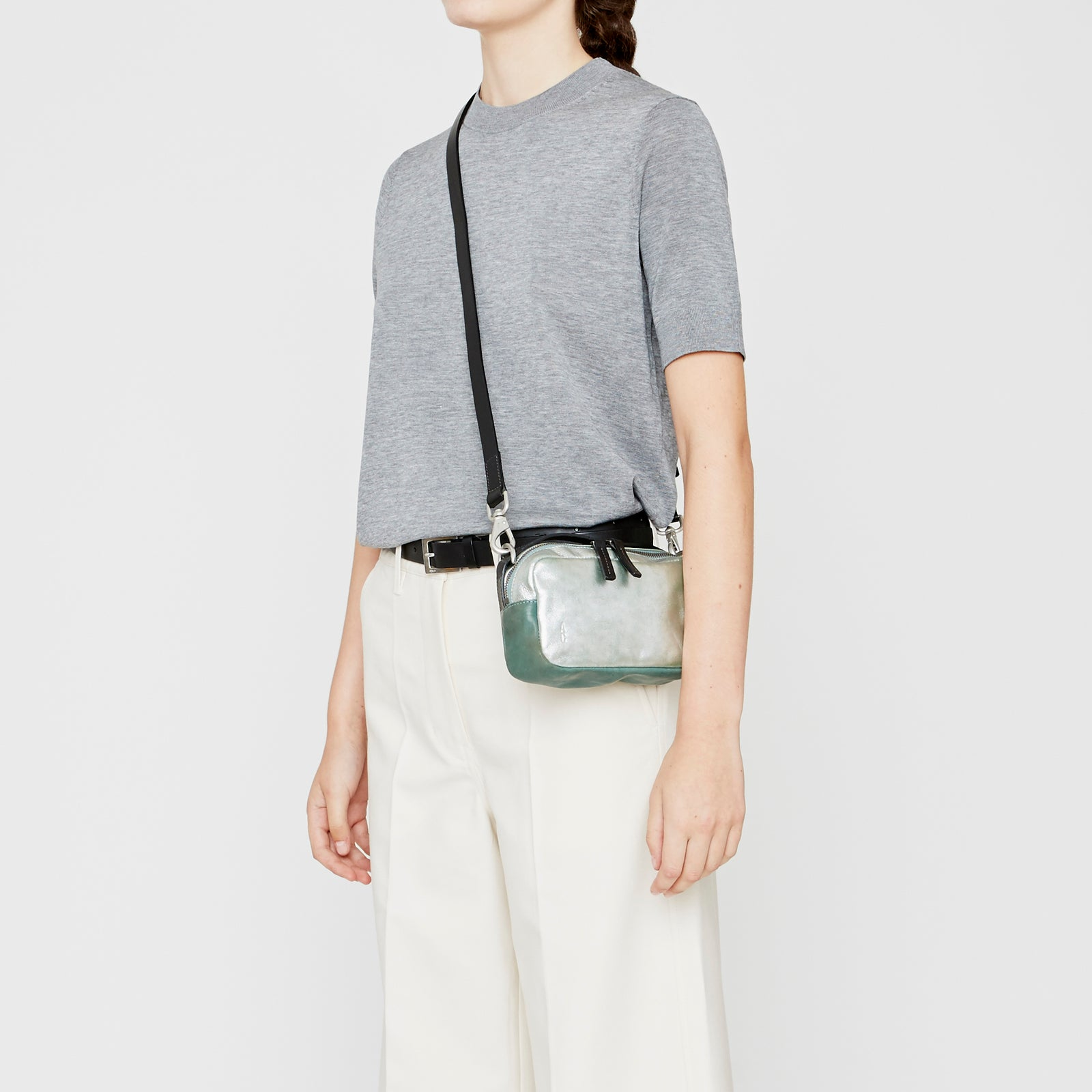 ... Ally Capellino, Leather, Shoulder bag, leather, mint, green, bag, ... fbdbcad8cb
