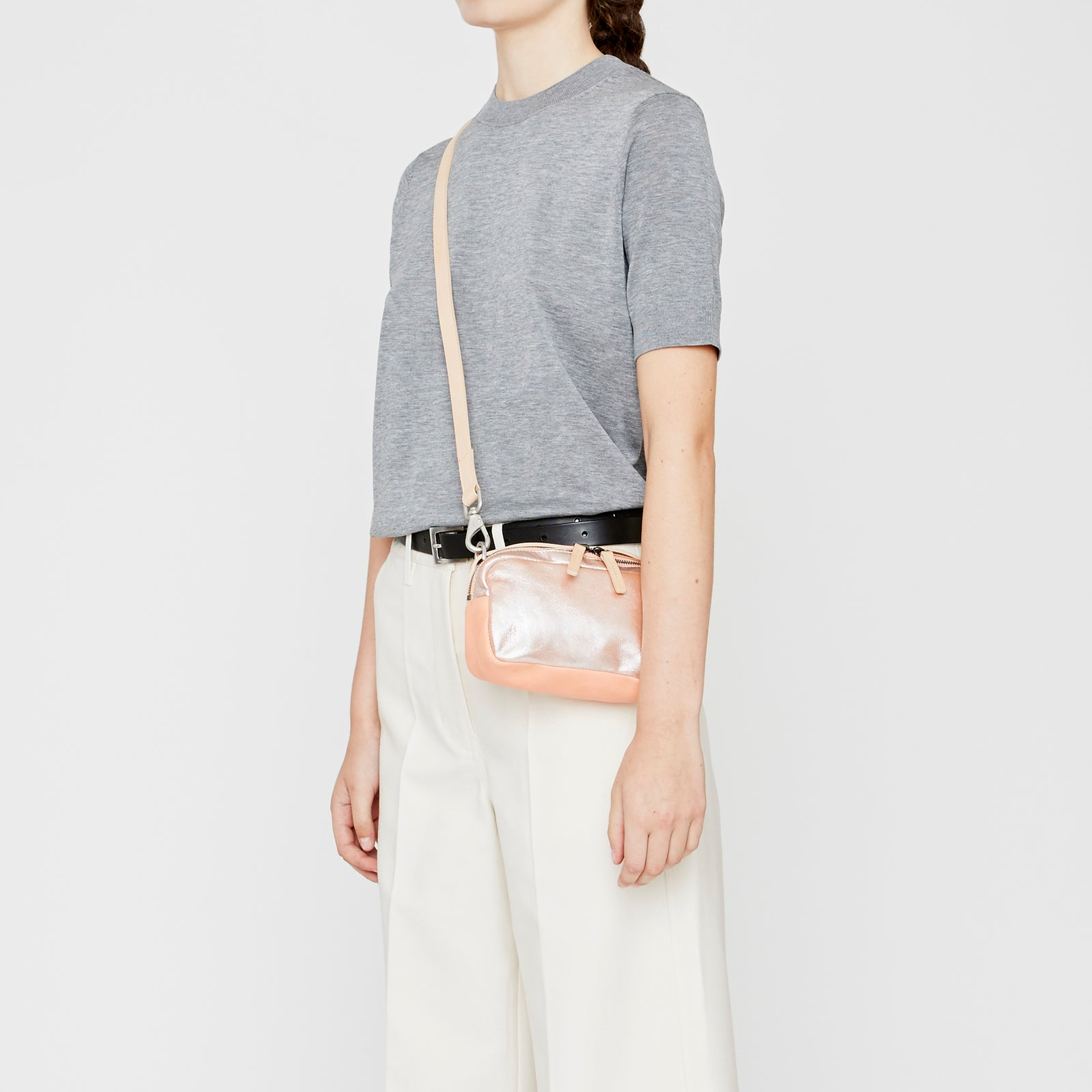 ... Ally Capellino, Leather, Shoulder bag, leather, pink, peach, bag, ... 0cfc792871