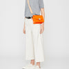 Lockie Boundary Leather Crossbody Lock Bag in Flame/Natural