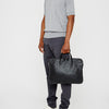 Marcus Calvert Leather Folio Bag in Black