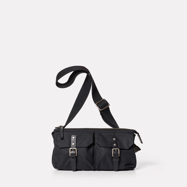 Adam Waxed Cotton Belt Bag in Black-BUMBAG-Ally Capellino-Ally Capellino