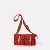 Adam Waxed Cotton Belt Bag in Brick-BUMBAG-Ally Capellino-brick red-British waxed cotton-red