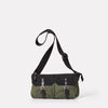 Adam Belt Bag in Black and Olive-BUMBAG-Ally Capellino-Ally Capellino-Green-Olive-Waxed_Cotton