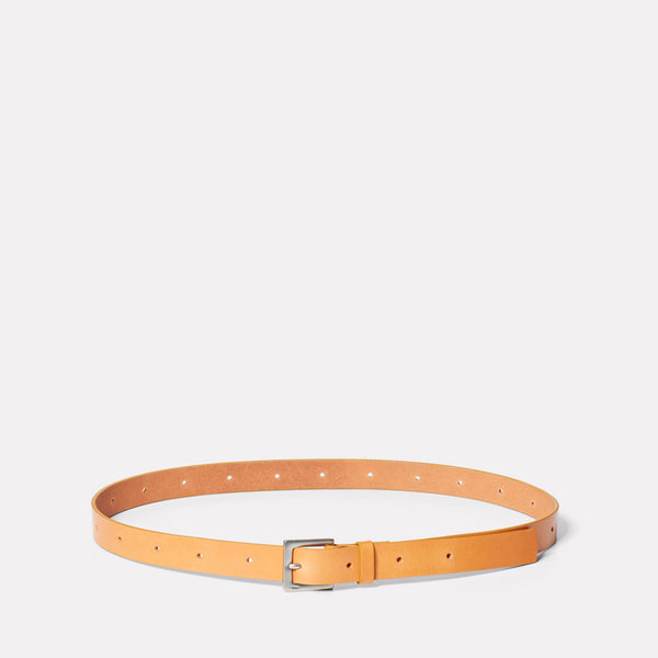 Arty Leather Belt in Tan