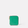 Axel Leather Zip Round Purse in Green-SQUARE ZIP ROUND-Ally Capellino-Small Leather Goods-Green-Leather