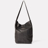 Bobo Camlet Leather Shoulder Bag in Black-SOFT BUCKET-Ally Capellino-Ally Capellino-Black-Black Leather Bag