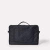 Brian Granular City Briefcase in Midnight-BRIEFCASE-Ally Capellino-cotton and nylon-blue-navy-midnight-travel bag