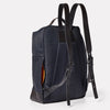 Brick Granular City Backpack in Midnight-RUCKSACK-Ally Capellino-cotton and nylon-blue-navy-midnight-travel bag