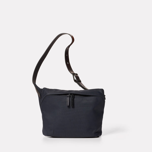 Brin Granular City Bodybag in Midnight-BODY BAG-Ally Capellino-cotton and nylon-blue-navy-midnight-travel bag
