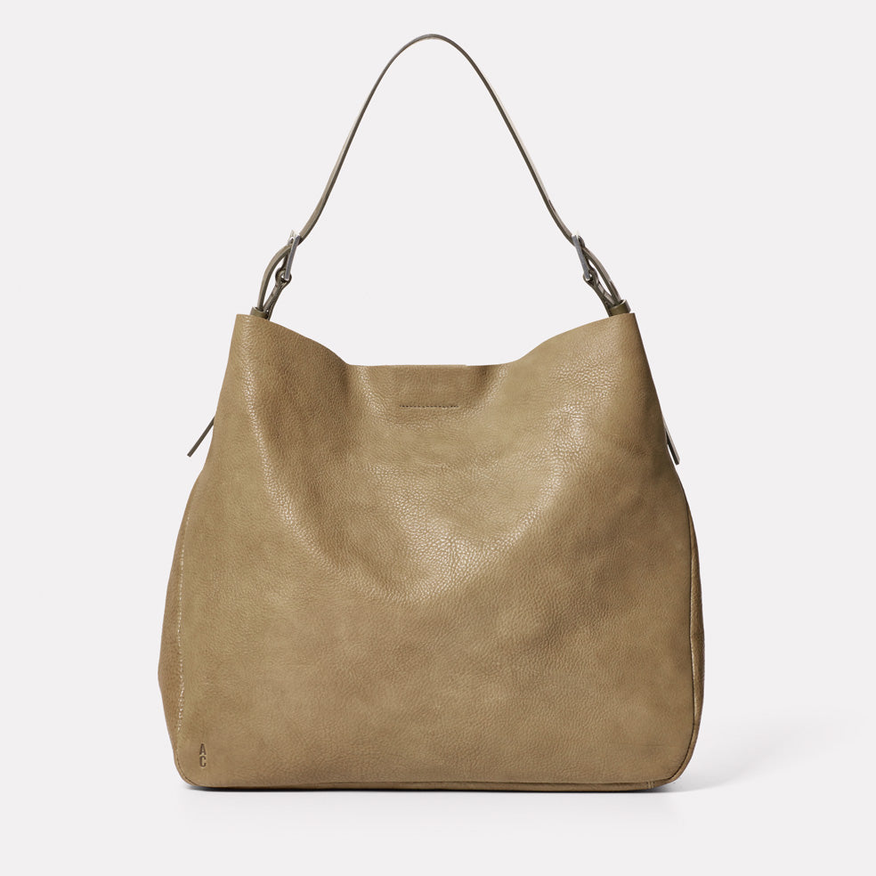 Cleve Large Calvert Leather Shoulder Bag in Moss