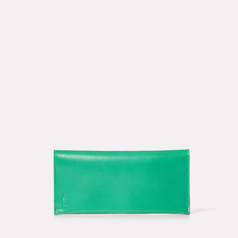 Evie Long Leather Purse in Green