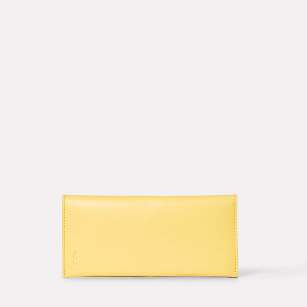 Evie Long Leather Purse in Yellow