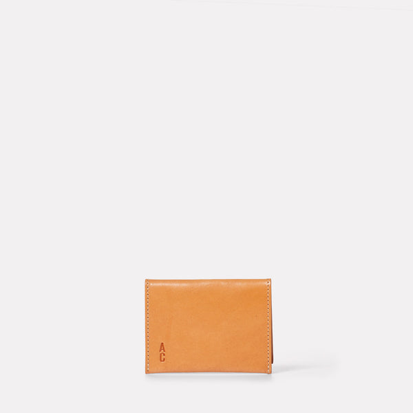 Fletcher Leather Card Holder in Tan-CARD HOLDER-Ally Capellino-Leather-smallleathergoods-Small Leather Goods- Tan-Tan Leather-AW19