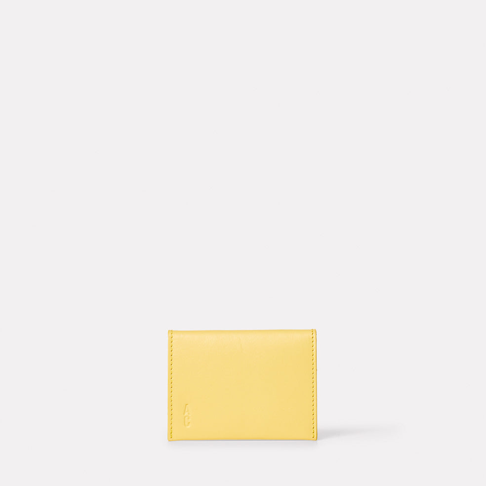 Fletcher Leather Card Holder in Yellow