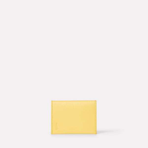 Fletcher Leather Card Holder in Yellow-CARD HOLDER-Ally Capellino-Ally Capellino
