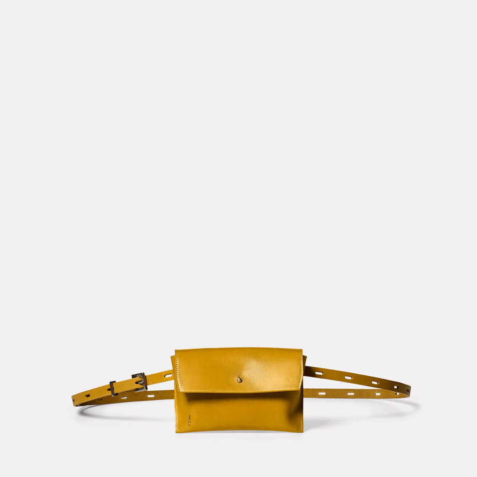 Hild Purse on a Belt in Mustard