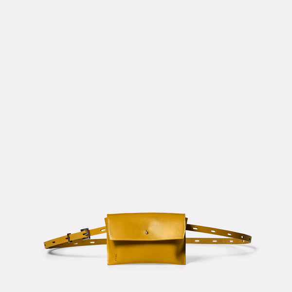 Hild Purse on a Belt in Mustard Front