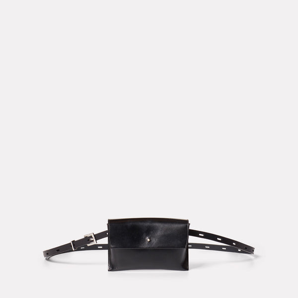 Hild Purse on a Belt in Black-PURSE ON BELT-Ally Capellino-AW19-smallleathergoods-small leather goods-black-black leather