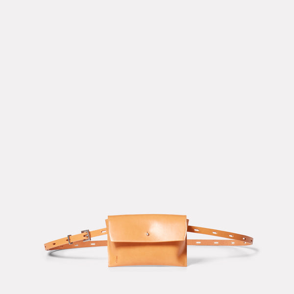 Hild Purse on a Belt in Tan-PURSE ON BELT-Ally Capellino-Leather-smallleathergoods-Small Leather Goods- Tan-Tan Leather-AW19