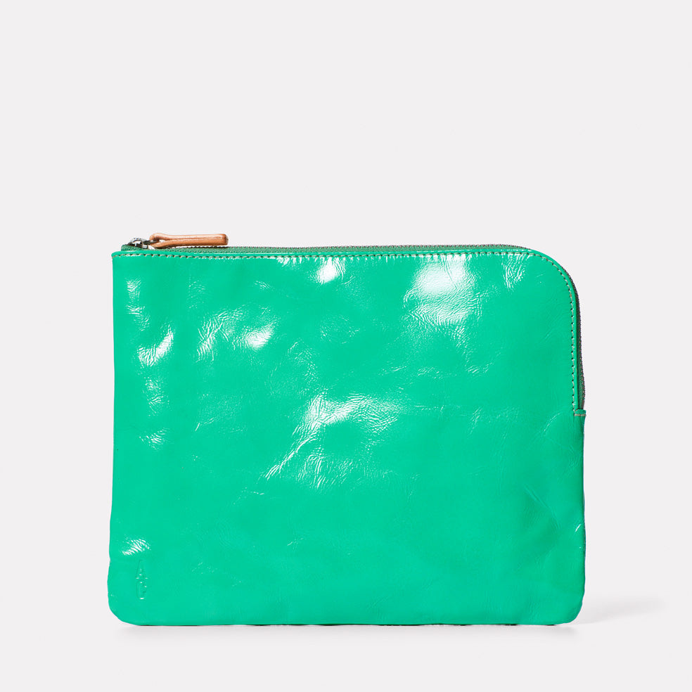 Hocker Large Leather Purse in Green