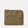 Hocker Large Leather Purse in Moss-LARGE POUCH-Ally Capellino-AW19-Leather-Moss-Green-Khaki