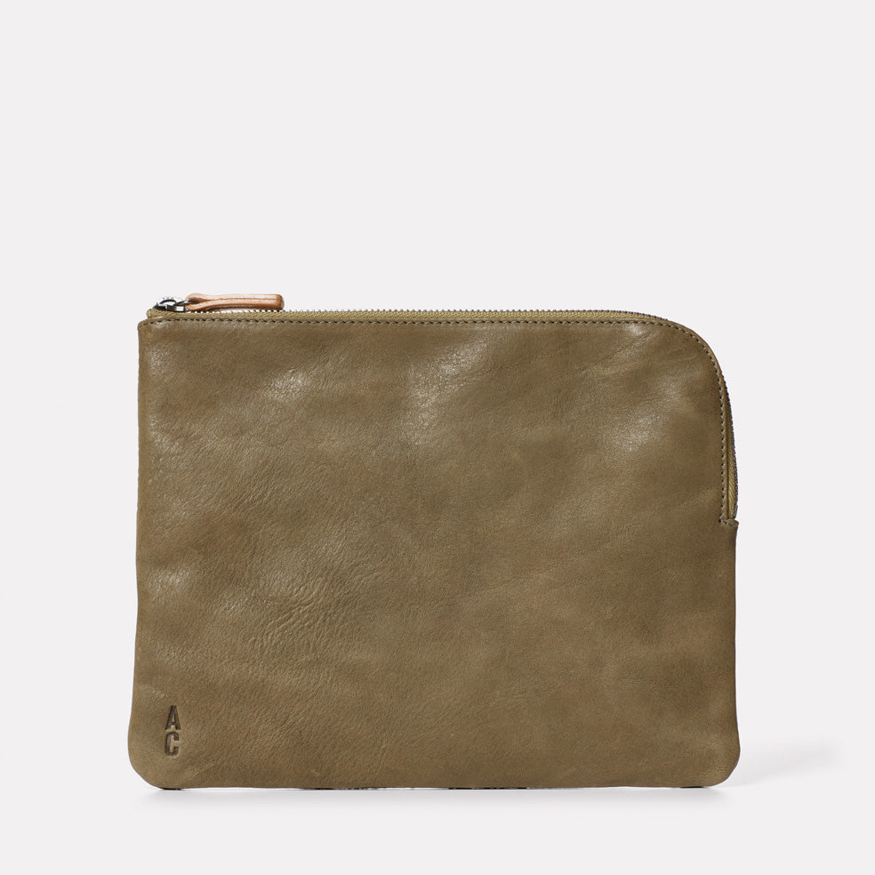 Hocker Large Leather Purse in Moss