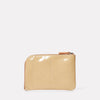 Hocker Medium Leather Purse in Beige Gloss-MEDIUM POUCH-Ally Capellino-Ally Capellino